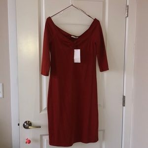 Zara Burnt Orange Knee Length Dress